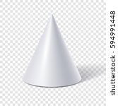 White Cone Isolated On...