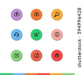 colorful flat web buttons with...