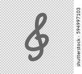 g clef vector icon eps 10.... | Shutterstock .eps vector #594997103