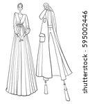 fashion vector illustration ... | Shutterstock .eps vector #595002446