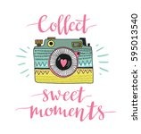 ornamental retro photo camera... | Shutterstock .eps vector #595013540