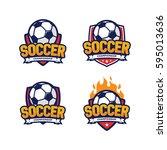 soccer championship logo ... | Shutterstock .eps vector #595013636
