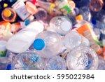 Plastic Bottle In Recycle Bin...