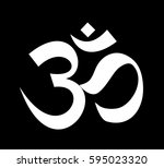 indian dharmic religion om... | Shutterstock . vector #595023320