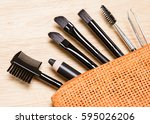 accessories for care of brows.... | Shutterstock . vector #595026206