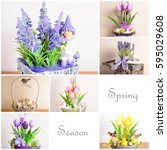 collage from the pictures of...   Shutterstock . vector #595029608
