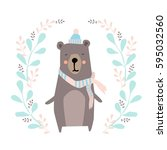 bear illustration   Shutterstock .eps vector #595032560