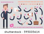 parts body template for design... | Shutterstock .eps vector #595035614