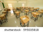 Empty Of  School Classroom Wit...