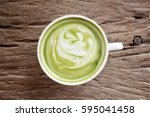green tea and milk | Shutterstock . vector #595041458