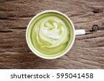 green tea and milk   Shutterstock . vector #595041458