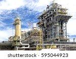 piping line of distillation... | Shutterstock . vector #595044923