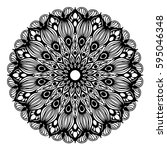 mandalas for coloring book.... | Shutterstock .eps vector #595046348