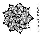 mandalas for coloring book.... | Shutterstock .eps vector #595046516