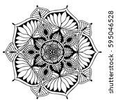 mandalas for coloring book.... | Shutterstock .eps vector #595046528