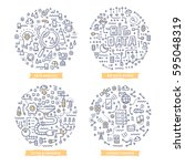 doodle vector concepts of big... | Shutterstock .eps vector #595048319