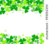 vector illustration of clover... | Shutterstock .eps vector #595052354