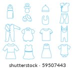 baby clothes and bottle   vector | Shutterstock .eps vector #59507443