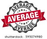 average. stamp. sticker. seal.... | Shutterstock .eps vector #595074980