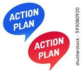 action plan. speech bubble icon.... | Shutterstock .eps vector #595080920