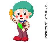 vector illustration of cute... | Shutterstock .eps vector #595083944