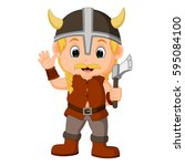 Vector Illustration Of Viking...