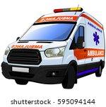 ambulance car | Shutterstock .eps vector #595094144