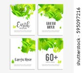 poster or banner background set ... | Shutterstock .eps vector #595097216