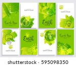 poster or banner background set ... | Shutterstock .eps vector #595098350