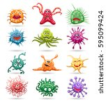 Germs Cartoon Characters...
