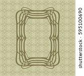 art nouveau elegant smooth... | Shutterstock .eps vector #595100690