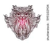 hand drawn ornate spiritual... | Shutterstock .eps vector #595102934
