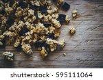 muesli background | Shutterstock . vector #595111064