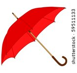 Red Classic Umbrella
