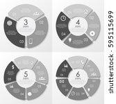 vector round infographics....   Shutterstock .eps vector #595115699