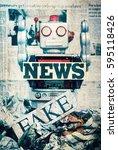 Fake News Concept Wirh Toy...