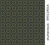 vintage pattern graphic design | Shutterstock .eps vector #595119014