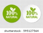 natural label  vector... | Shutterstock .eps vector #595127564
