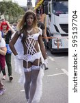 Small photo of Christopher Street Day Hamburg Germany 08/16/2016 - annual European LGBT celebration and demonstration against discrimination and exclusion