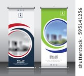 roll up brochure flyer banner... | Shutterstock .eps vector #595141256
