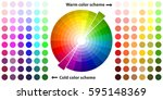 color palette  color schemes ... | Shutterstock .eps vector #595148369
