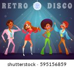 vector cartoon retro... | Shutterstock .eps vector #595156859