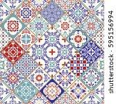 seamless ceramic tile with...   Shutterstock .eps vector #595156994