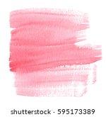 red watercolor hand drawn wet... | Shutterstock . vector #595173389