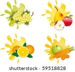 juice splash vector | Shutterstock .eps vector #59518828