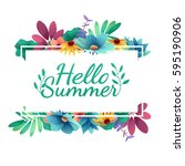 design banner with  happy... | Shutterstock .eps vector #595190906