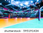 empty professional volleyball... | Shutterstock . vector #595191434