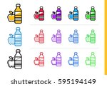 linear food  drink icon for... | Shutterstock .eps vector #595194149