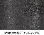 bright abstract mosaic green... | Shutterstock . vector #595198448