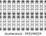 seamless black and white... | Shutterstock . vector #595198529